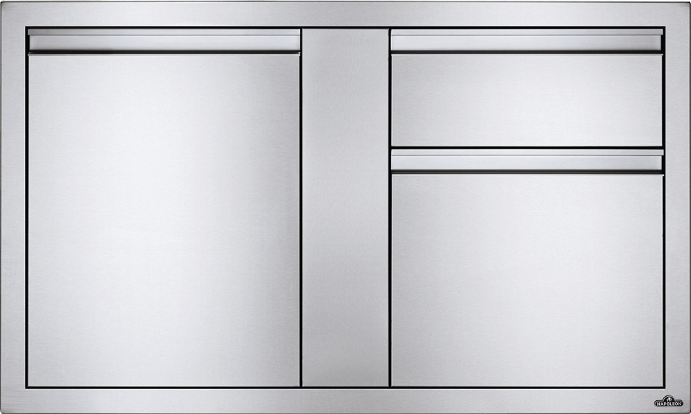 "Napoleon Built-In 42""X 24"" Large Single Door & Standard Drawer BI-4224-1D2DR"