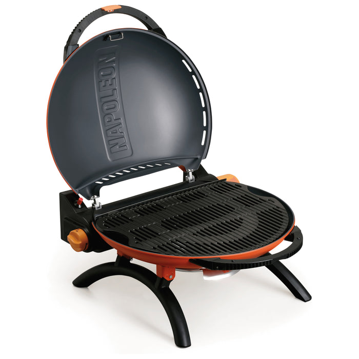 Napoleon TravelQ 2225 (ORANGE) Portable Propane Gas Grill TQ2225PO