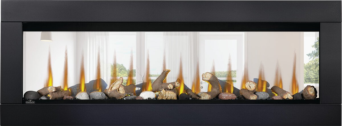 Napoleon CLEARion Elite 50 See-Through Wall Mount Electric Fireplace NEFBD50H