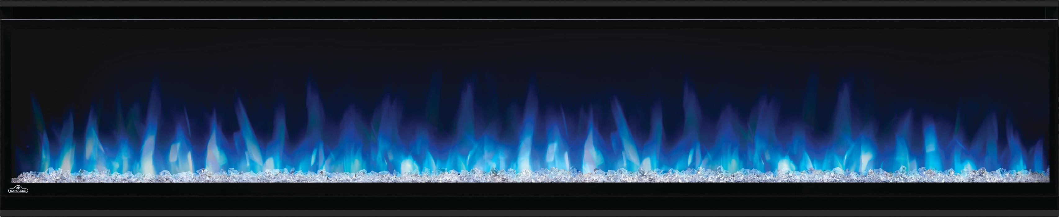 Napoleon Alluravision 74-In Slim Wall Mount Electric Fireplace NEFL74CHS