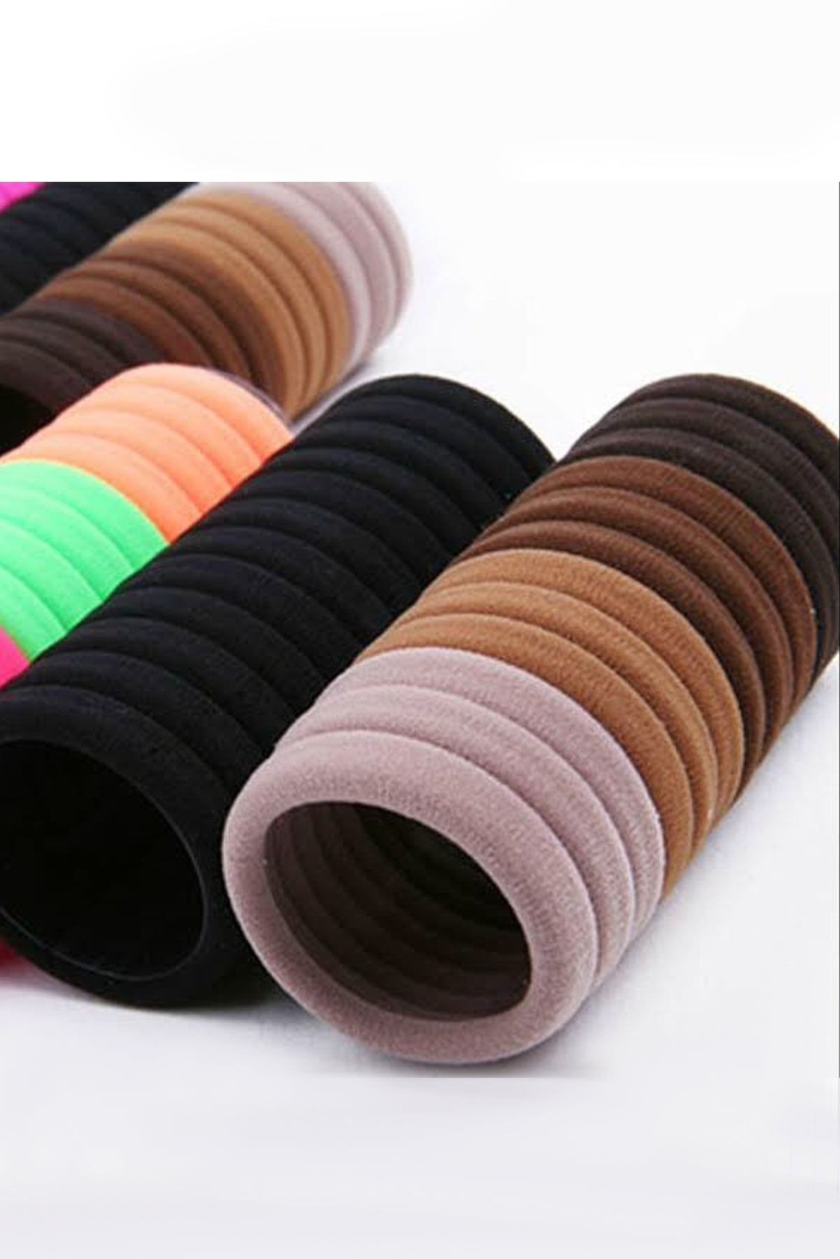 Elastic Seamless Cotton Hair Ties