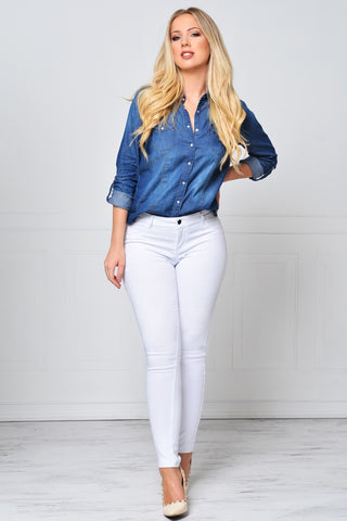 Not Your Average Denim Shirt - Fashion Effect Store  - 1