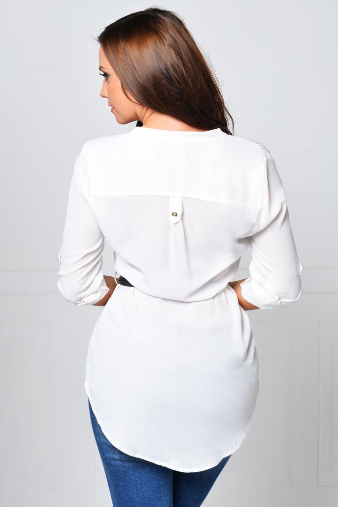 RESTOCK Make It Perfect White Blouse - Fashion Effect Store  - 2