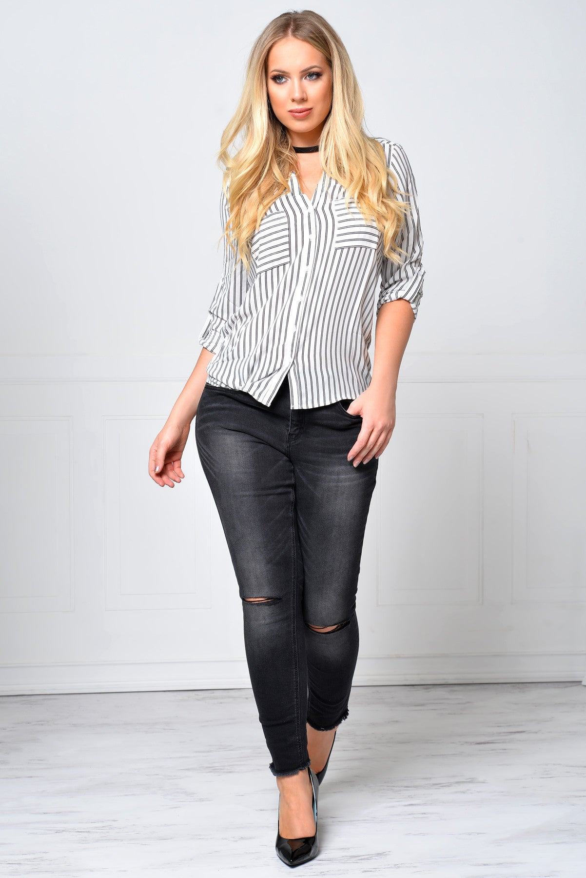 Ready To Go Striped Blouse - Fashion Effect Store  - 3