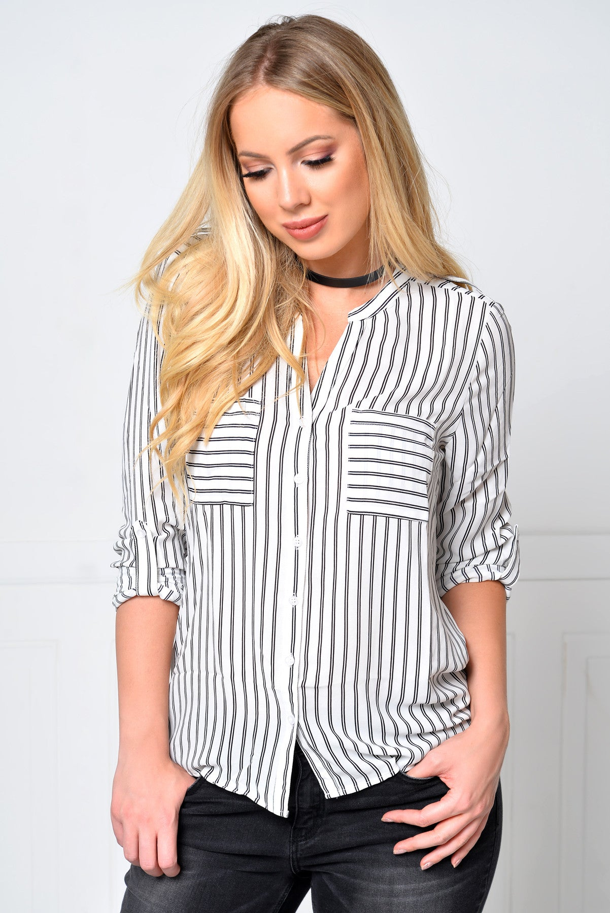 Ready To Go Striped Blouse - Fashion Effect Store  - 1