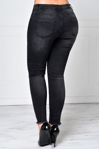 What You Need Washed Black Jeans - Fashion Effect Store  - 2