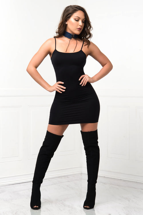 Irresistible Black Mini Dress - RESTOCKED - Fashion Effect Store  - 1
