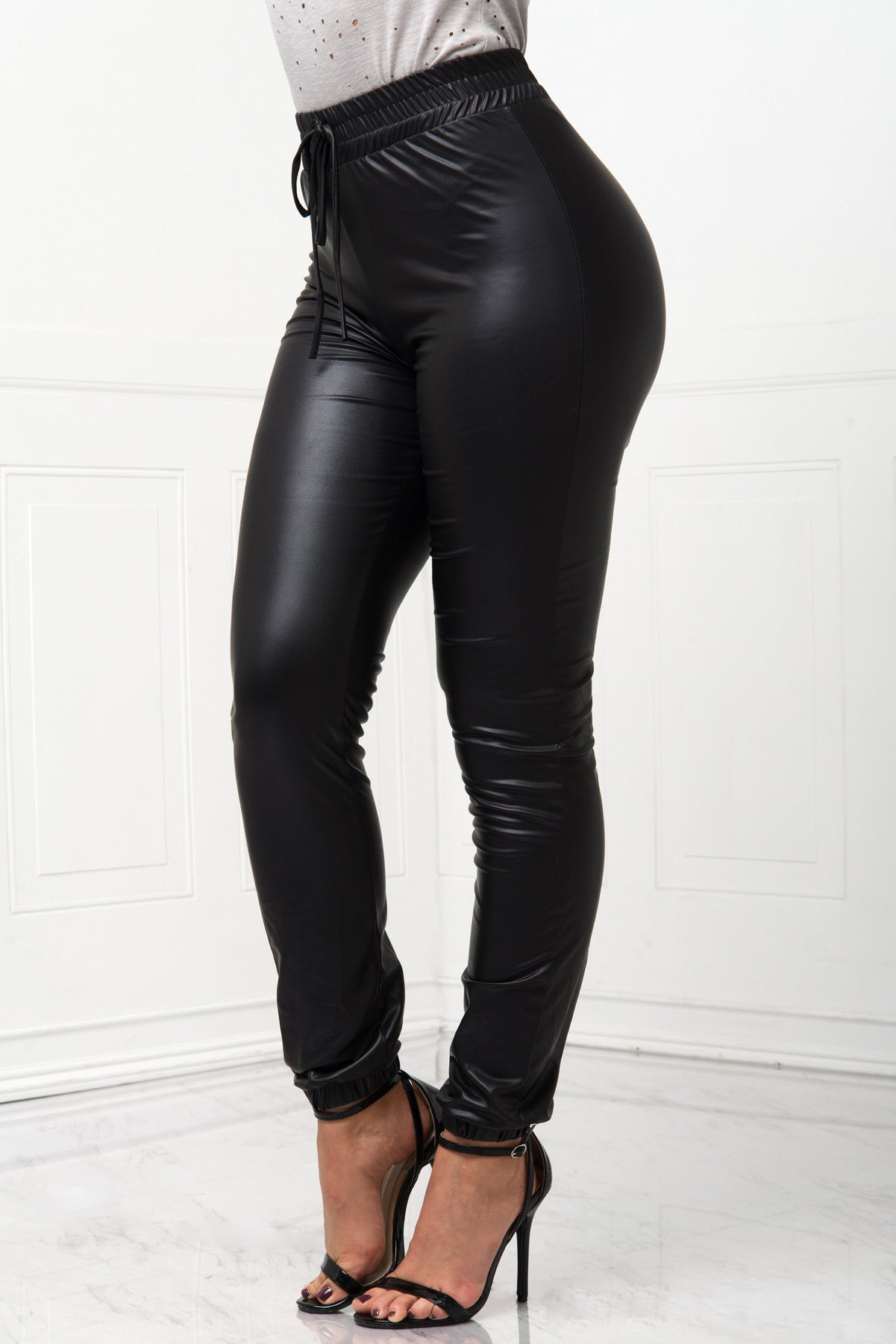 RESTOCK Tish Faux Leather Joggers - Fashion Effect Store  - 2