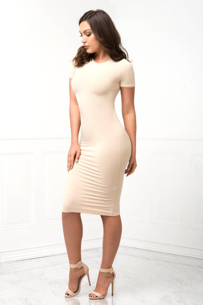 You Belong To Me Cream Dress - Fashion Effect Store  - 1