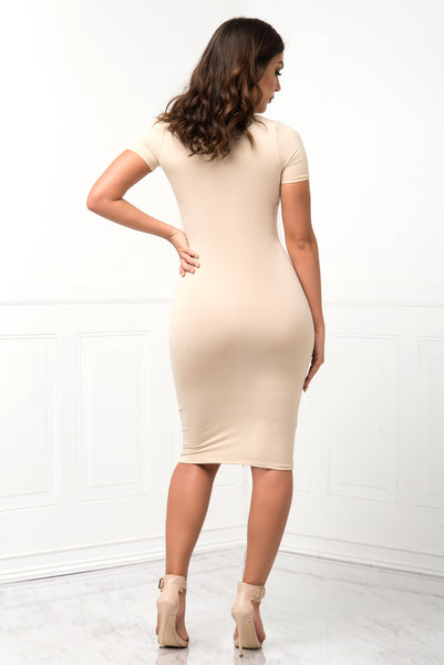 You Belong To Me Cream Dress - Fashion Effect Store  - 3