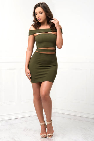 Milani Olive Green Dress - Fashion Effect Store  - 1