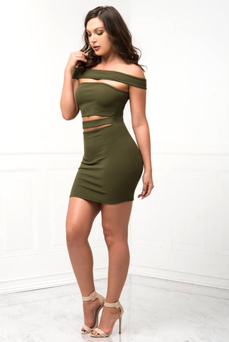 Milani Olive Green Dress - Fashion Effect Store  - 2
