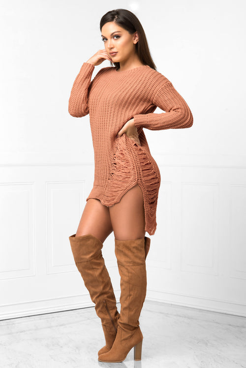Always Warm Mauve Sweater - Fashion Effect Store  - 1