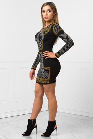 Amaya Black Dress - Fashion Effect Store  - 2