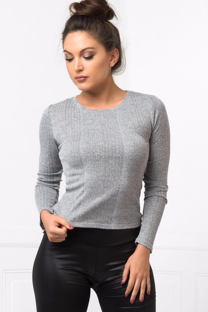 So Comfy Gray Top - Fashion Effect Store  - 1