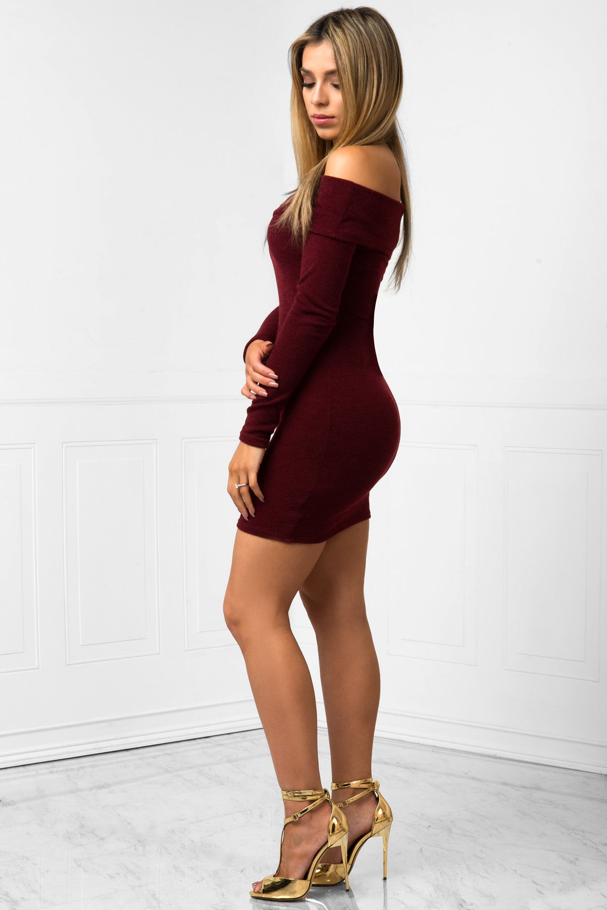 Kelsey Burgundy Dress - Fashion Effect Store  - 2