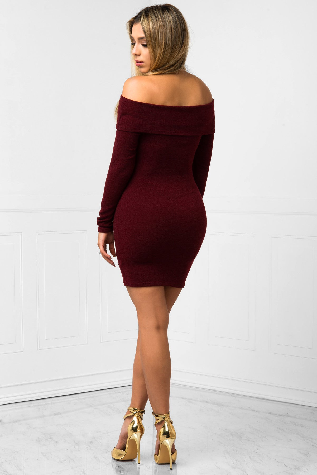 Kelsey Burgundy Dress - Fashion Effect Store  - 3