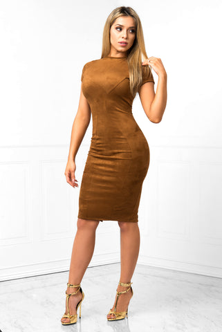 Nicolle Suede Dress - Fashion Effect Store  - 1