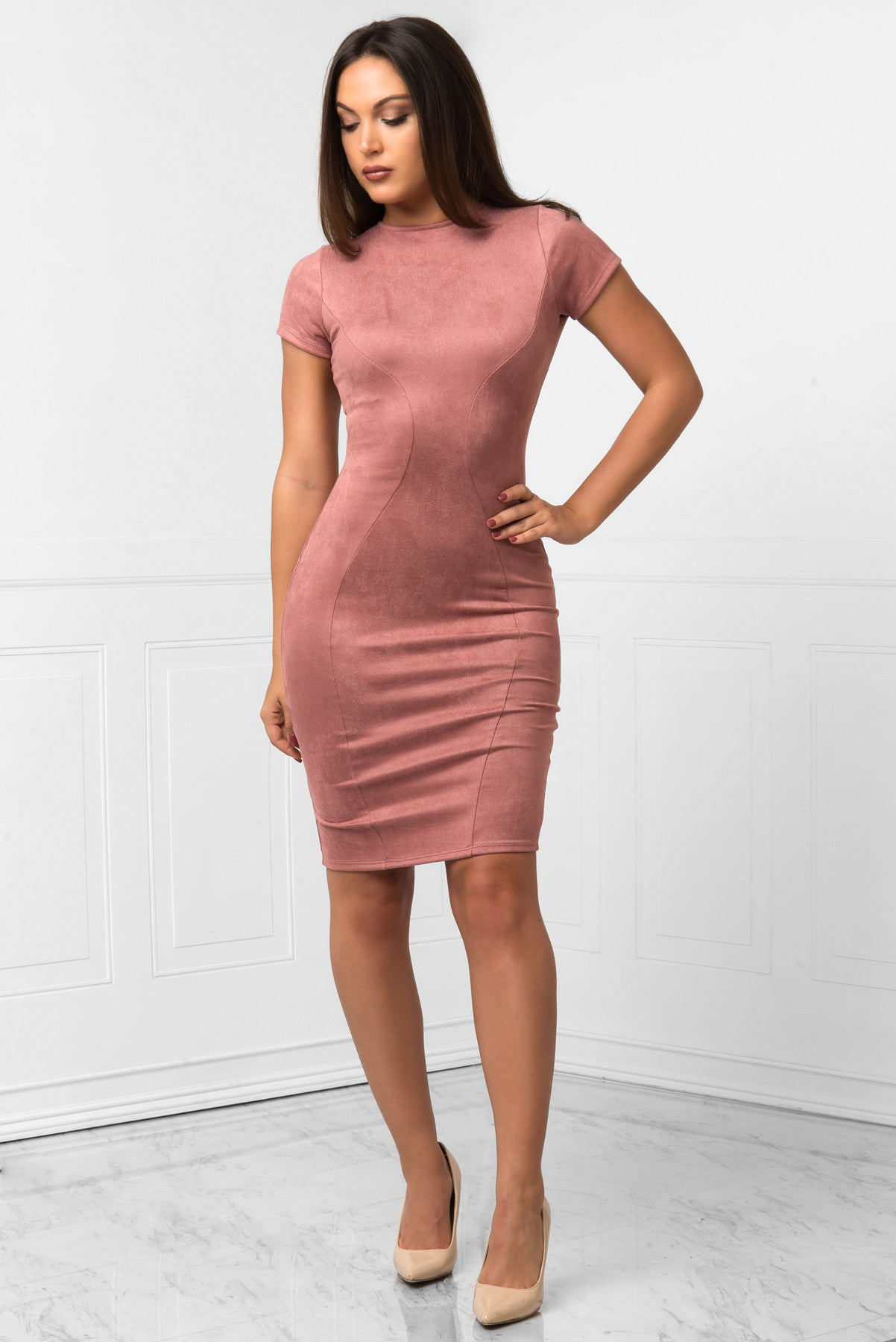 Amber  Suede Dress - Fashion Effect Store  - 1