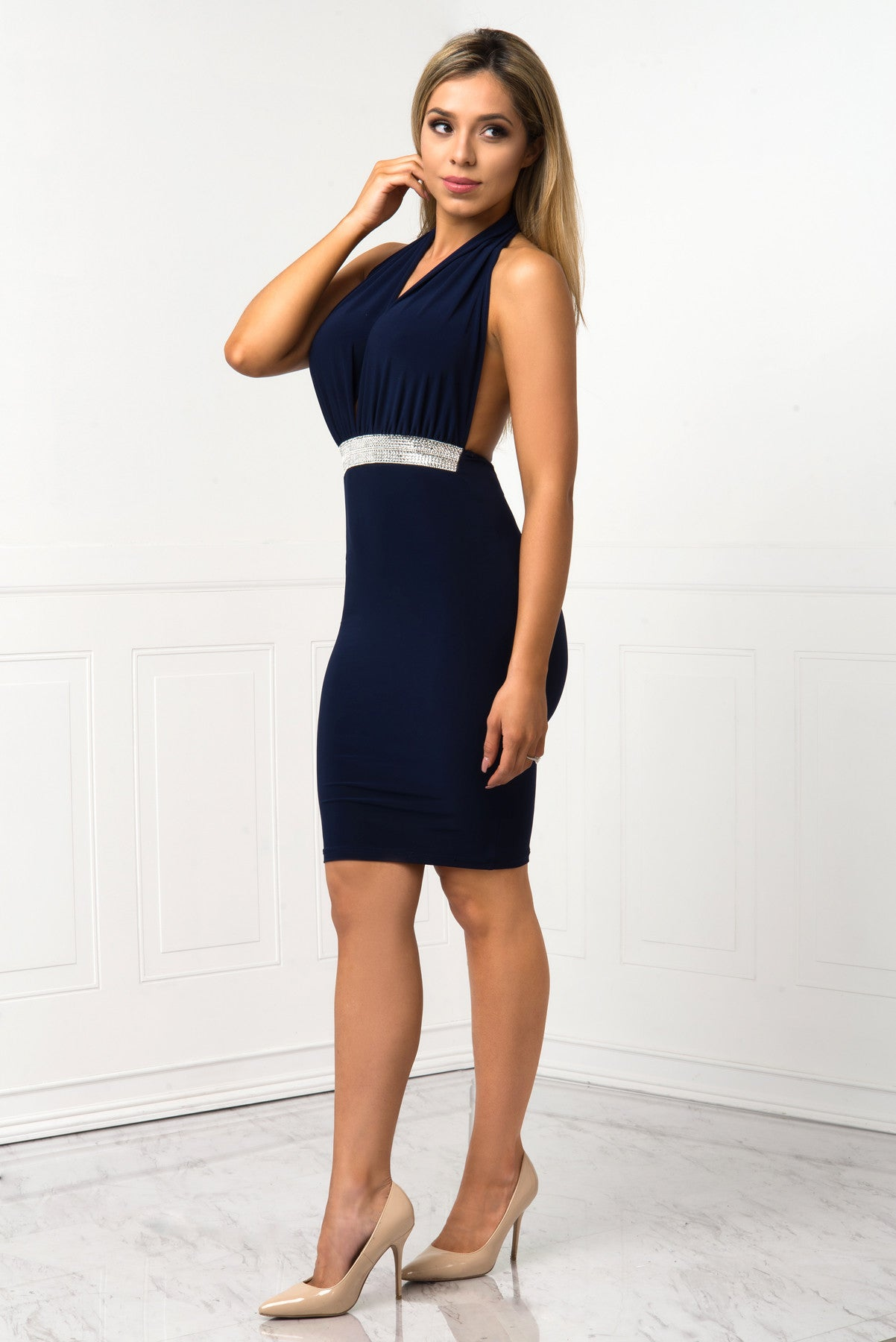 Jessa Navy Dress - Fashion Effect Store  - 2