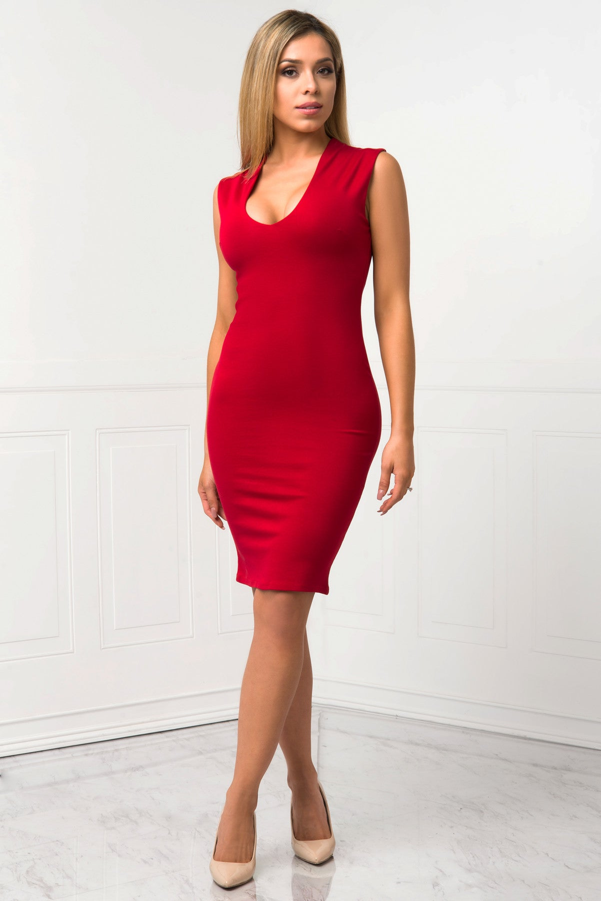 Danielle Red Dress - Fashion Effect Store  - 1
