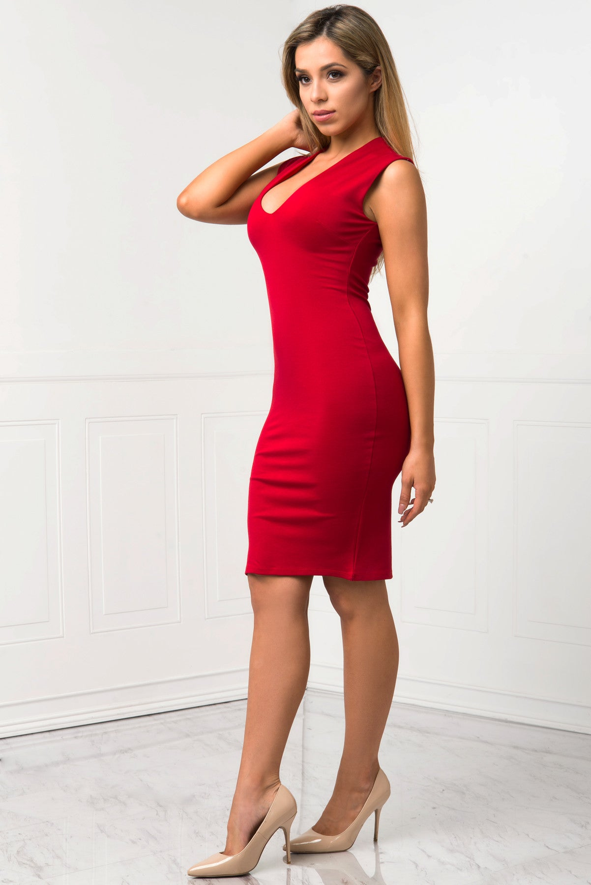 Danielle Red Dress - Fashion Effect Store  - 2