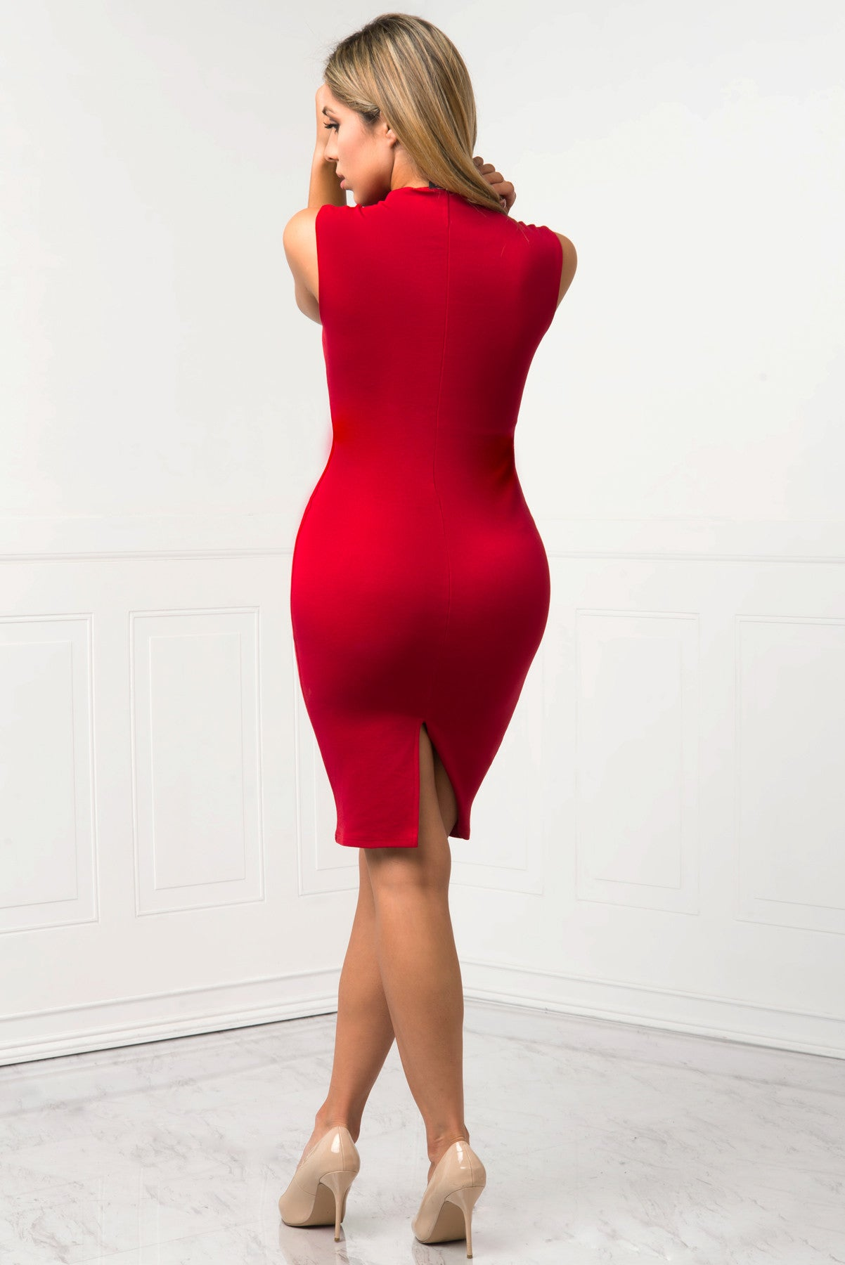 Danielle Red Dress - Fashion Effect Store  - 3