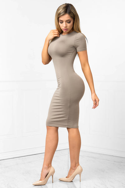 You Belong To Me Taupe Dress - Fashion Effect Store  - 2