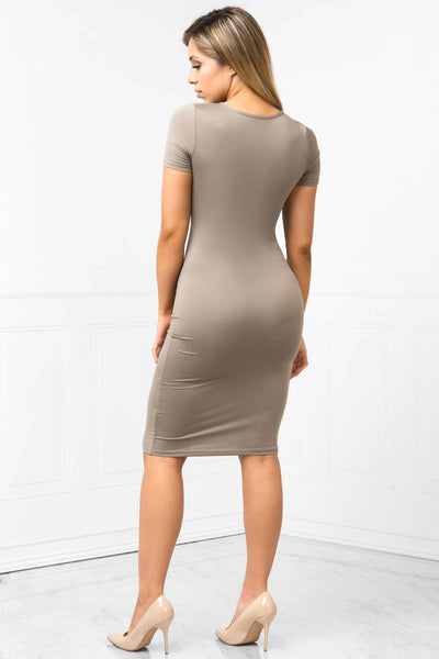 You Belong To Me Taupe Dress - Fashion Effect Store  - 3