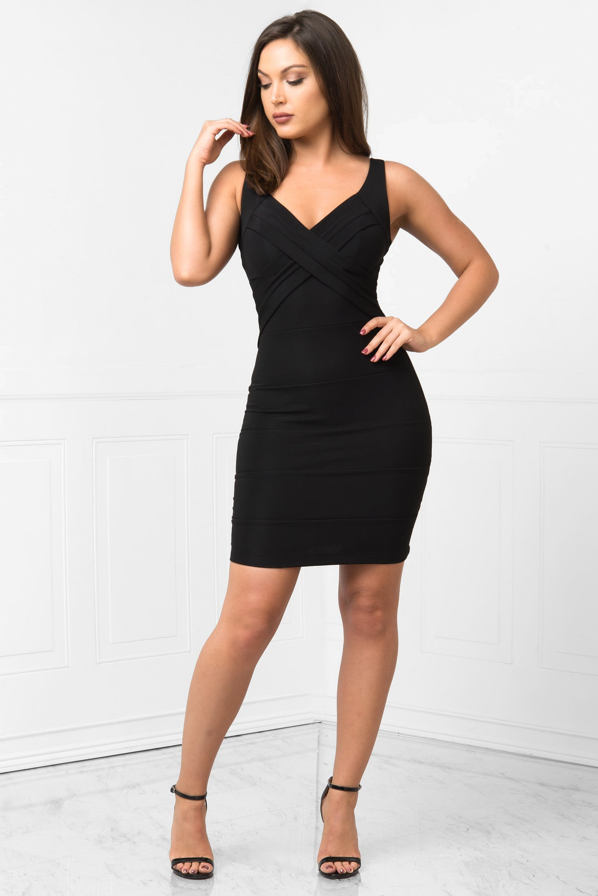 Mayte Black Mini Dress - Fashion Effect Store  - 1