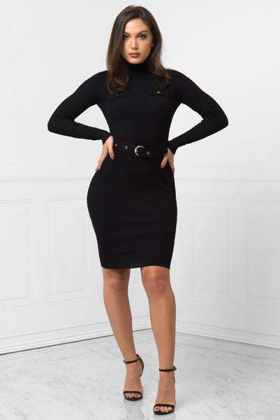 Leah Black Dress - Fashion Effect Store  - 1