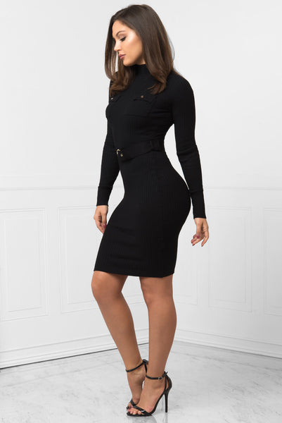 Leah Black Dress - Fashion Effect Store  - 2