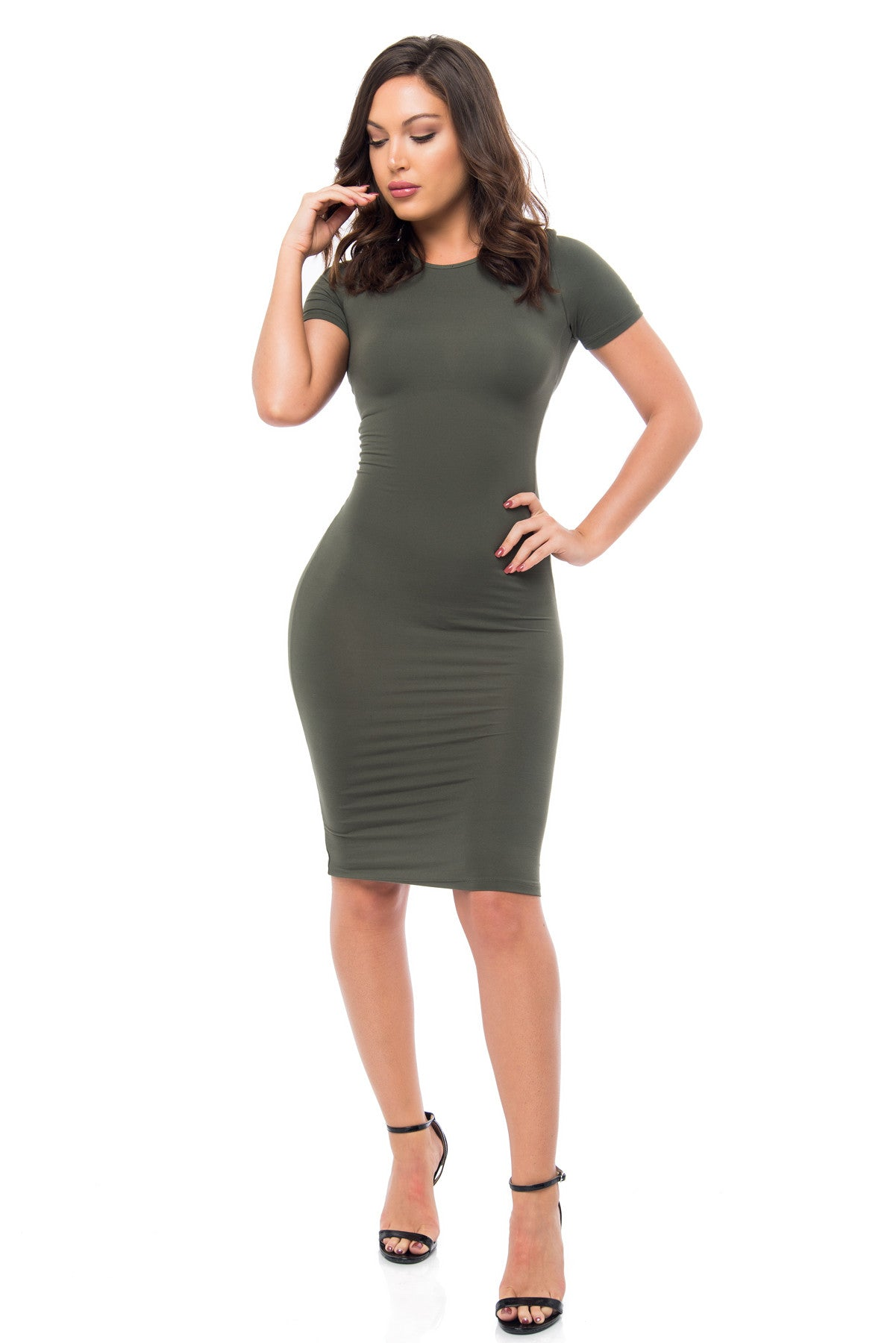 You Belong To Me Olive Dress - Fashion Effect Store  - 1