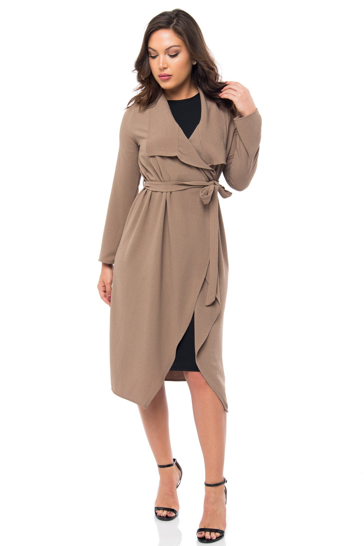 RESTOCK Walk With Me Taupe Duster - Fashion Effect Store  - 2