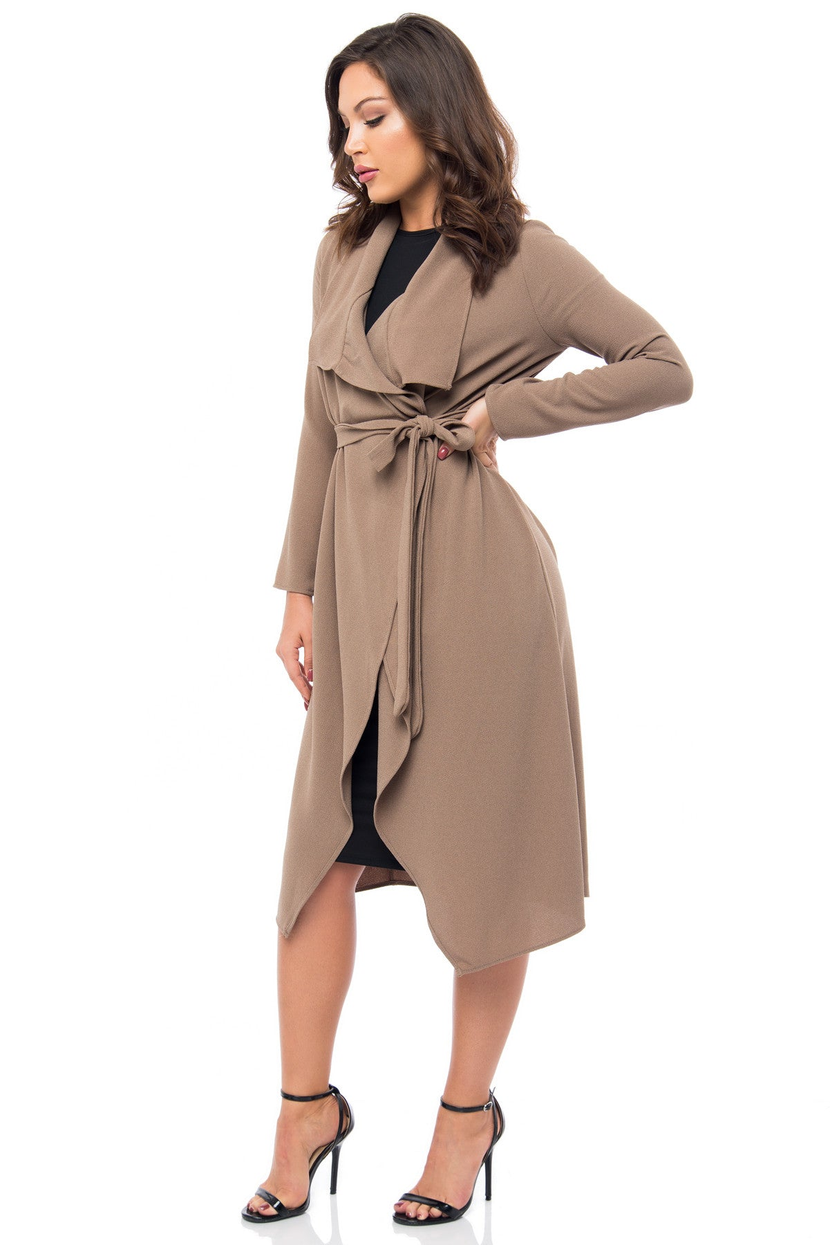 RESTOCK Walk With Me Taupe Duster - Fashion Effect Store  - 4