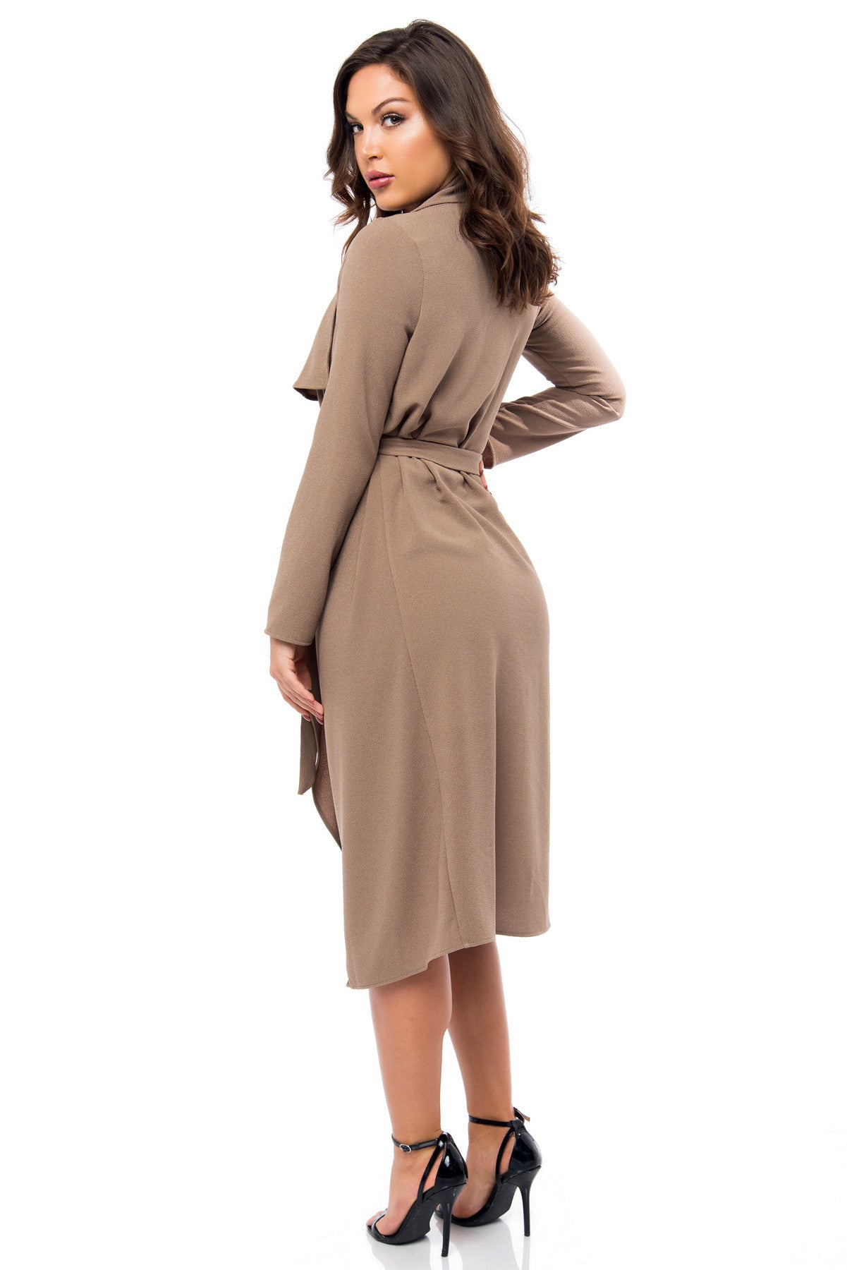 RESTOCK Walk With Me Taupe Duster - Fashion Effect Store  - 3