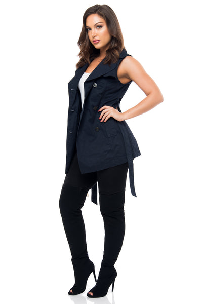 Casual And Chic Trench Vest - Fashion Effect Store  - 3