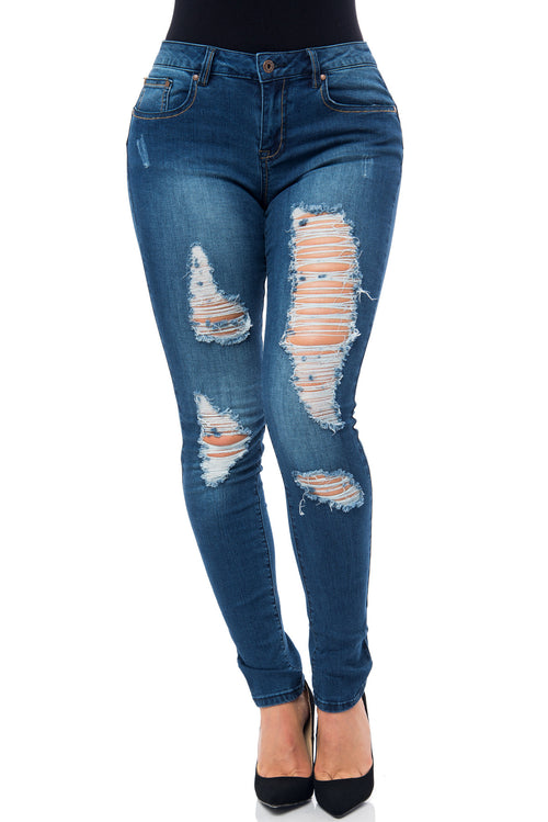Milena-Butt Lifter Jeans - Fashion Effect Store  - 1