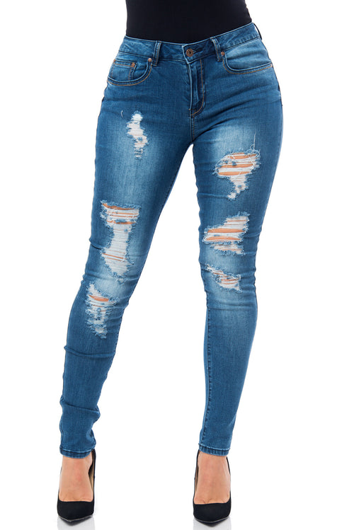 Annabelle-Butt Lifter Jeans - Fashion Effect Store  - 1