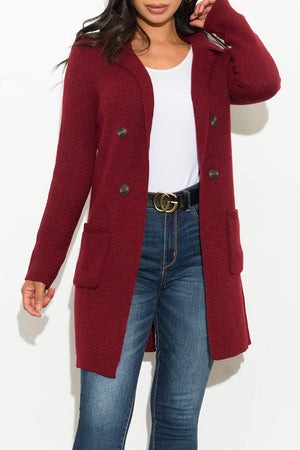 Warm Hearted Cardigan Burgundy