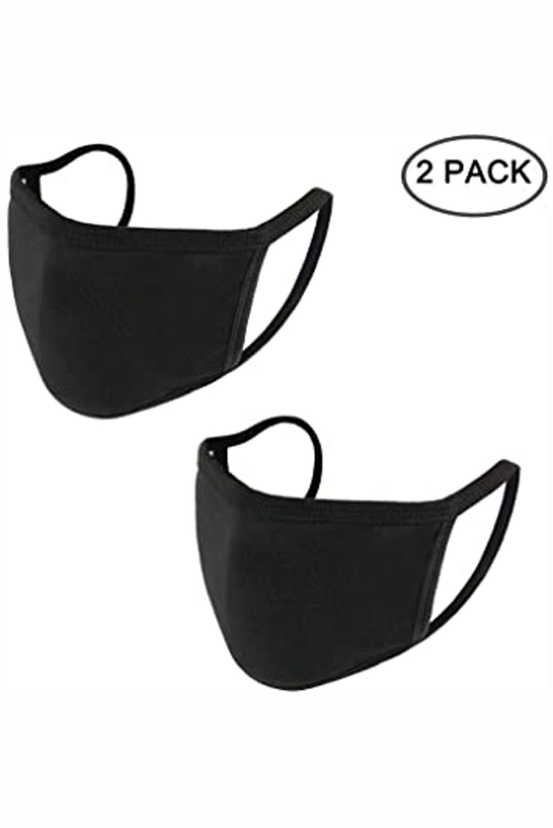 Black Reusable Cloth Mask Set Of 2