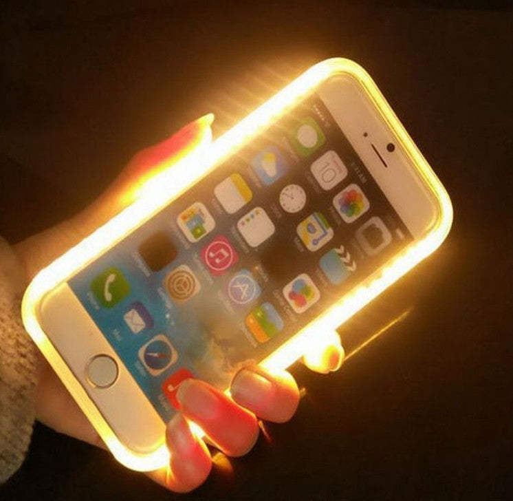 LED Light Up Selfie + Power bank Phone Cover Case Apple iPhone 6 & 6 PLUS - Fashion Effect Store  - 2