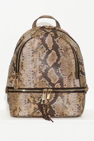 Fresh Take Backpack  Snake Print