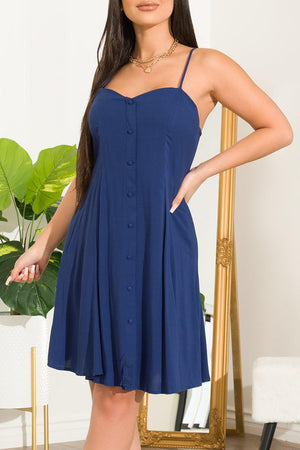Andy Dress Navy - Fashion Effect Store