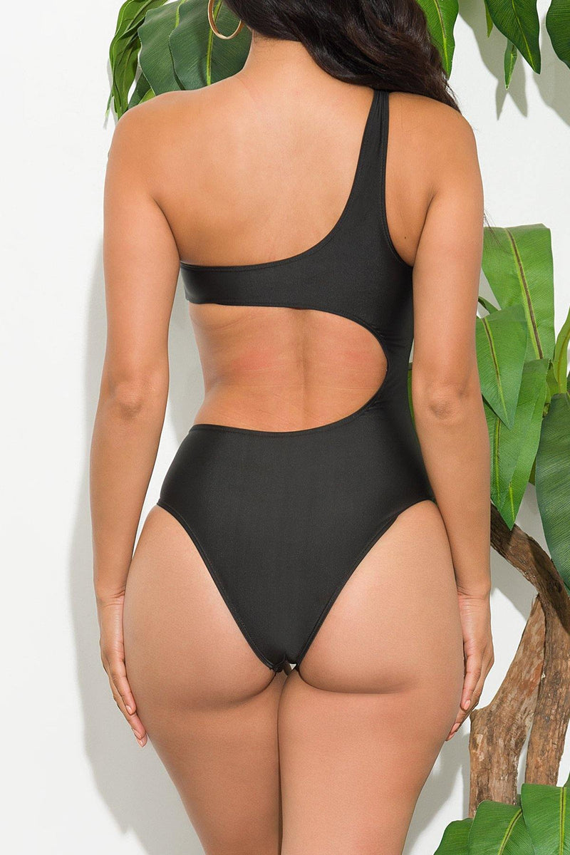 Alega Beach Black One Piece Swimsuit