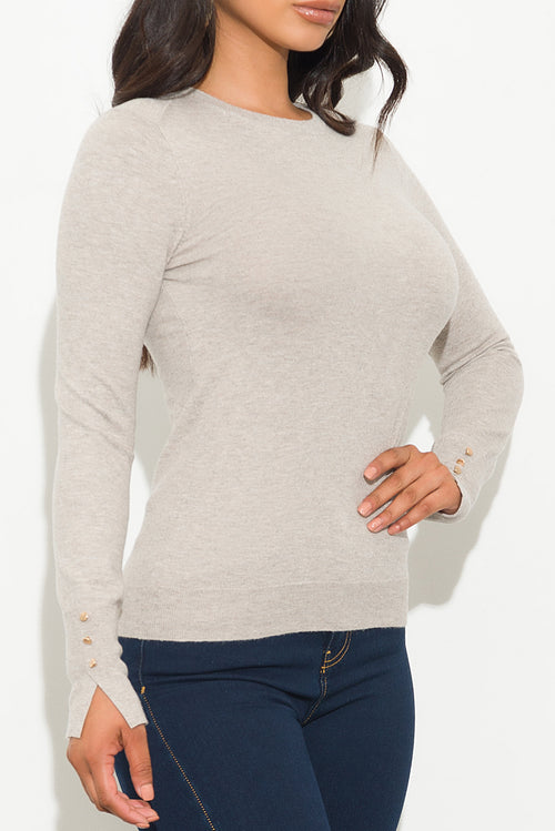 Catching Up Sweater Top Ivory