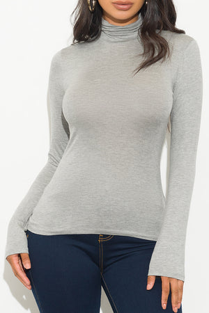Spice It Up Long Sleeve Top Grey