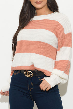 Emma Sweater White/Pink