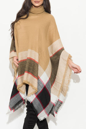 One Of A Kind  Poncho Taupe