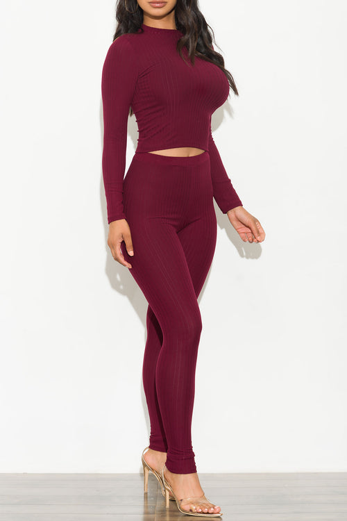 Noelle Set Burgundy
